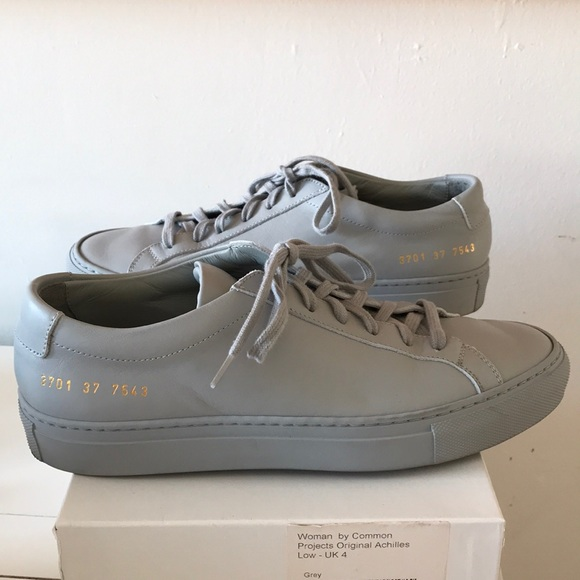 66277a14bd894 Common Projects Shoes - Woman by Common Projects Grey Achilles Low Sneaker